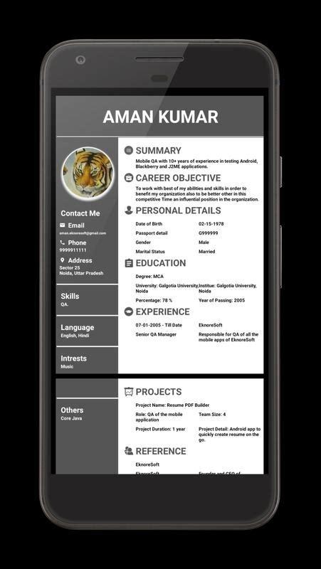 resume pdf maker apk download free business app for