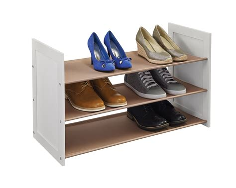 Shoes Organizers : Tier Stackable Fabric Shoe Organizer