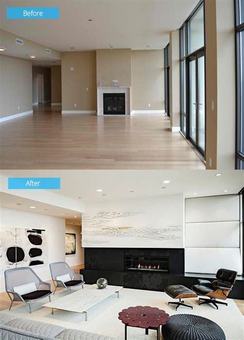 Living Room Remodels by 15 Impressive Before And After Photos Of Living Room