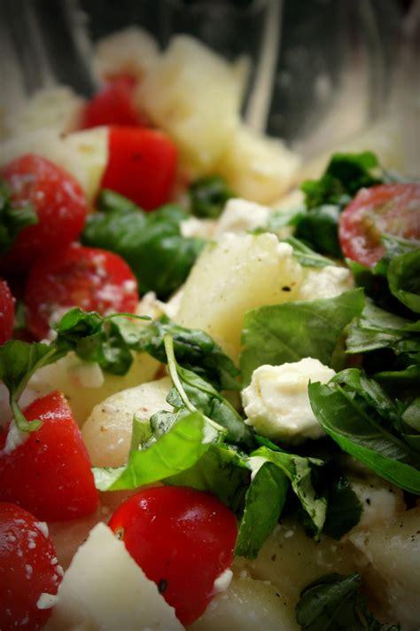 fruchtiger tomaten melonen feta salat rezept kochbarde