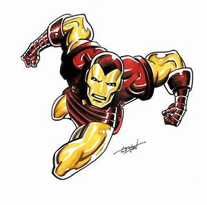 Iron Man Marker Sketch by LostonWallace.deviantart.com on ...