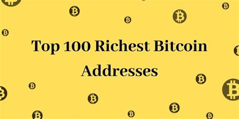 Bitcoin help community where you learn all about how to increase and make living on bitcoin. Top 100 Richest Bitcoin Addresses ~ 2019 UPDATED — COINnws