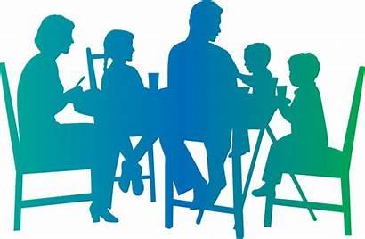 Dinner Table Eating Silhouette Children Drawing Truth
