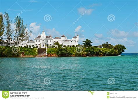 house plans for mansions tropical island mansion by the sea stock image image