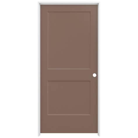 home depot jeld wen interior doors jeld wen 36 in x 80 in smooth 2 panel medium chocolate