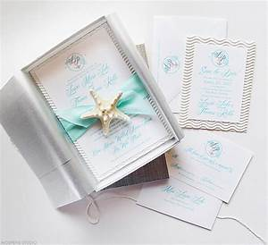 beach wedding invitations custom save the dates unique With starfish wedding invitations in a box