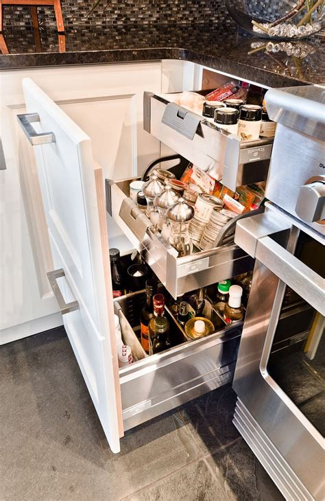cuisine anglaise armoires de cuisine tendances concept tiroir à épices