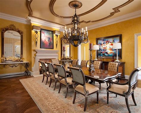 yellow  shape  refreshing dining room