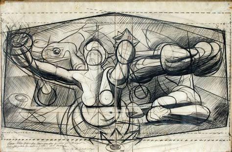 boceto mural de david alfaro siqueiros en el palacio de