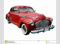 Classic american red car stock photo Image of front