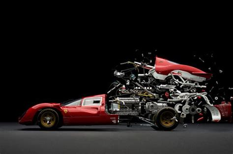 Exploded View Photographs Of Classic Cars
