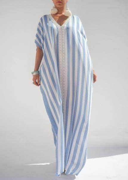 stripes moroccan linen caftan vestidos  gorditas