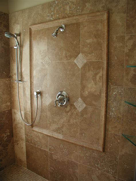 travertine bathroom tile ideas shower stalls with tile feature wall quality marble
