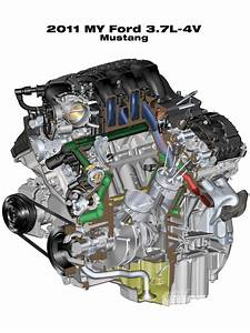 2011 Ford Mustang 3 7l V6 Engine Photo  U0026 Image Gallery