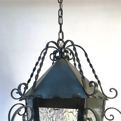 wrought iron lantern pendant light