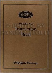 1931 Ford Model A  U0026 Aa Reprint Owner U0026 39 S Manual 31 Car