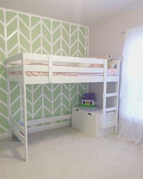 ikea mydal loft bed hack for little girls room just
