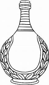 Vase Coloring Clipart Drawing Line Transparent Pottery Webstockreview Found sketch template