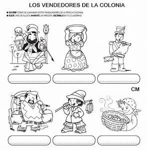 Divertidas actividades infantiles de la Época Colonial Dibujos para pintar Colorear imágenes