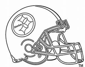 Football Helmet Coloring Pages Pittsburg Steelers Things