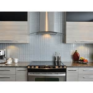 stainless peel and stick tile backsplash shop smart tiles - Peel And Stick Kitchen Backsplash Tiles