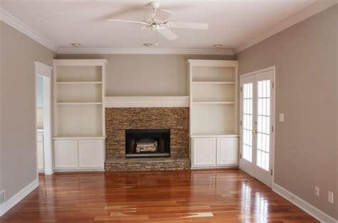 bookshelves  sides  fireplace home pinterest