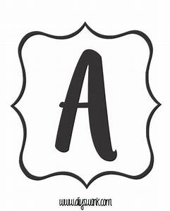 the 25 best printable letters ideas on pinterest With individual letters for banner