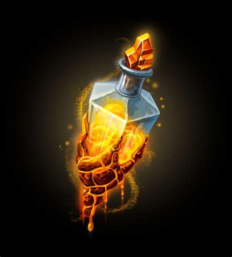 orange potion alchemy ilustracion de fantasia espada
