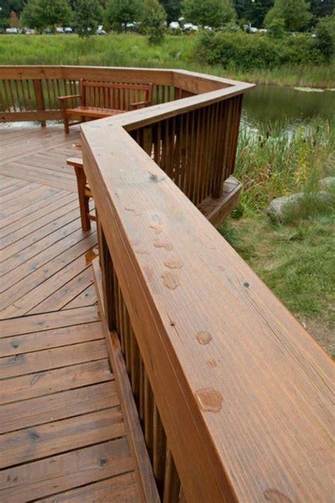 pressure treated deck rail refinished  sealed