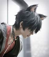 Asian boy cat ears pic