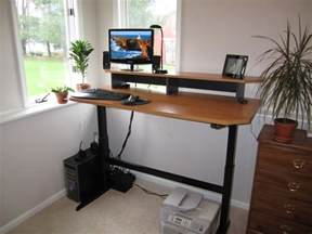 Dual Monitor Standing Desk Diy by How I Made My Adjustable Height Standing Desk Optimwise