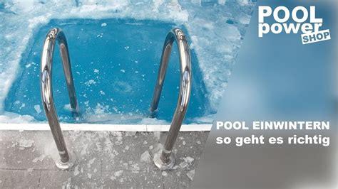 Garten Pool Winterfest Machen by Pool Winterfest Machen F 252 R Weniger Arbeit Im Fr 252 Hjahr
