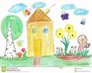 Image D Enfant : dessin d 39 enfant d 39 une maison image stock image du illustrations enfance 55294023 ~ Dallasstarsshop.com Idées de Décoration