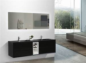 Ensemble meubles salle bain couleur noir bernstein la for Meuble de salle de bain bernstein