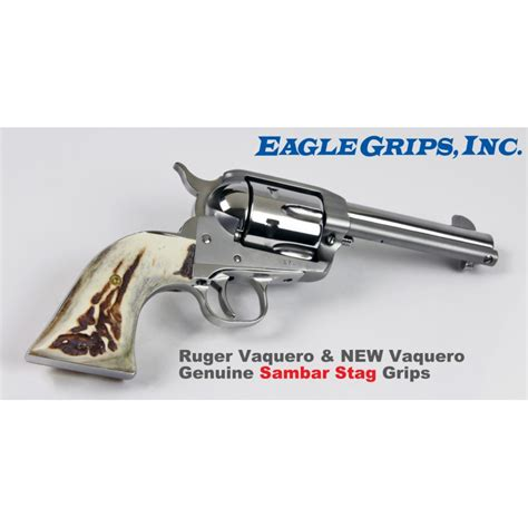 Sambar Grips Stag Vaquero New Ruger