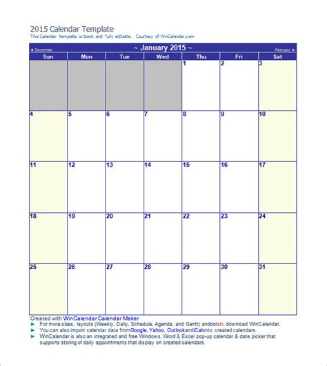 calendar template printable word excel psd indesign