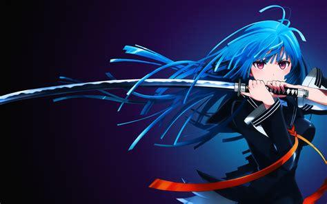 Wallpaper Anime 4k - wallpaper kisara tendou anime katana 4k anime 4641