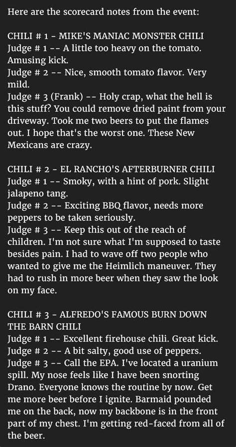 man  selected    judge   chili cook