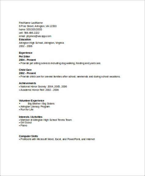 building a resume with no work experience sle resume with no work experience 7 exles in word pdf