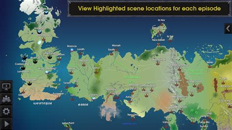 interactive map  game  thrones app