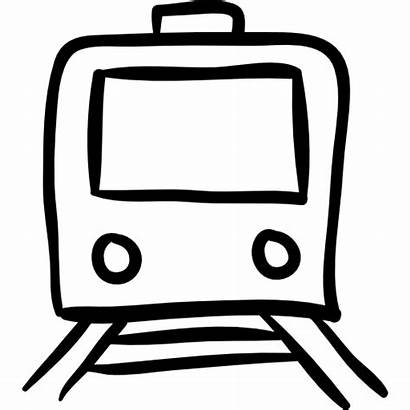 Train Outline Hand Drawn Drawing Icons Icon