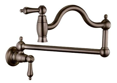 belle foret bfnorb wall mount pot filler oil rubbed bronze  handle tub  faucets