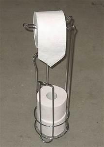 Wc Rollenhalter Stehend : stand wc rollenhalter verchromt toilettenpapierhalter rollenst nder neu ebay ~ Whattoseeinmadrid.com Haus und Dekorationen
