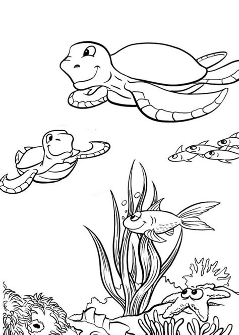 Sea Turtle Coloring Pages 360coloringpages