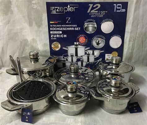 european pot fry pan stainless steel cookware 19pcs kitchenware combination soup milk