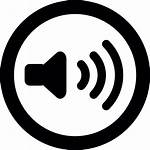 Audio Sound Speaker Waves Outline Circular Icon