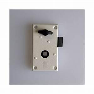 Serrure de porte en applique droit for Porte de garage sectionnelle avec serrure en applique