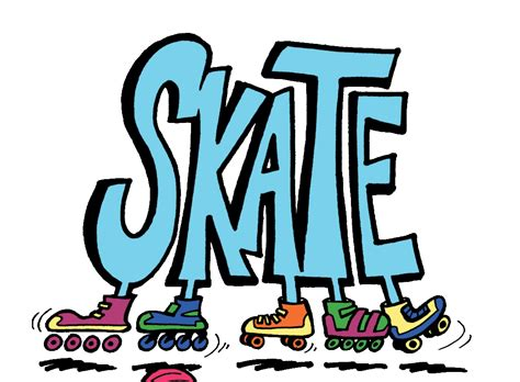 Skating Clip Clipart Roller Skate Pencil And In Color