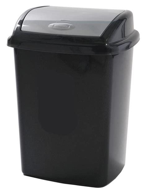 curver black grey plastic kitchen swing bin