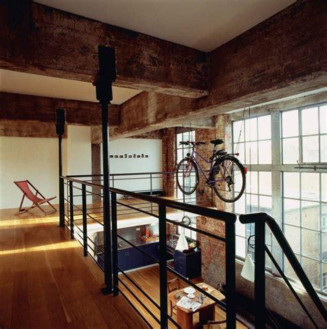remarkable wood mezzanine construction plan  interior red brick wall   barn